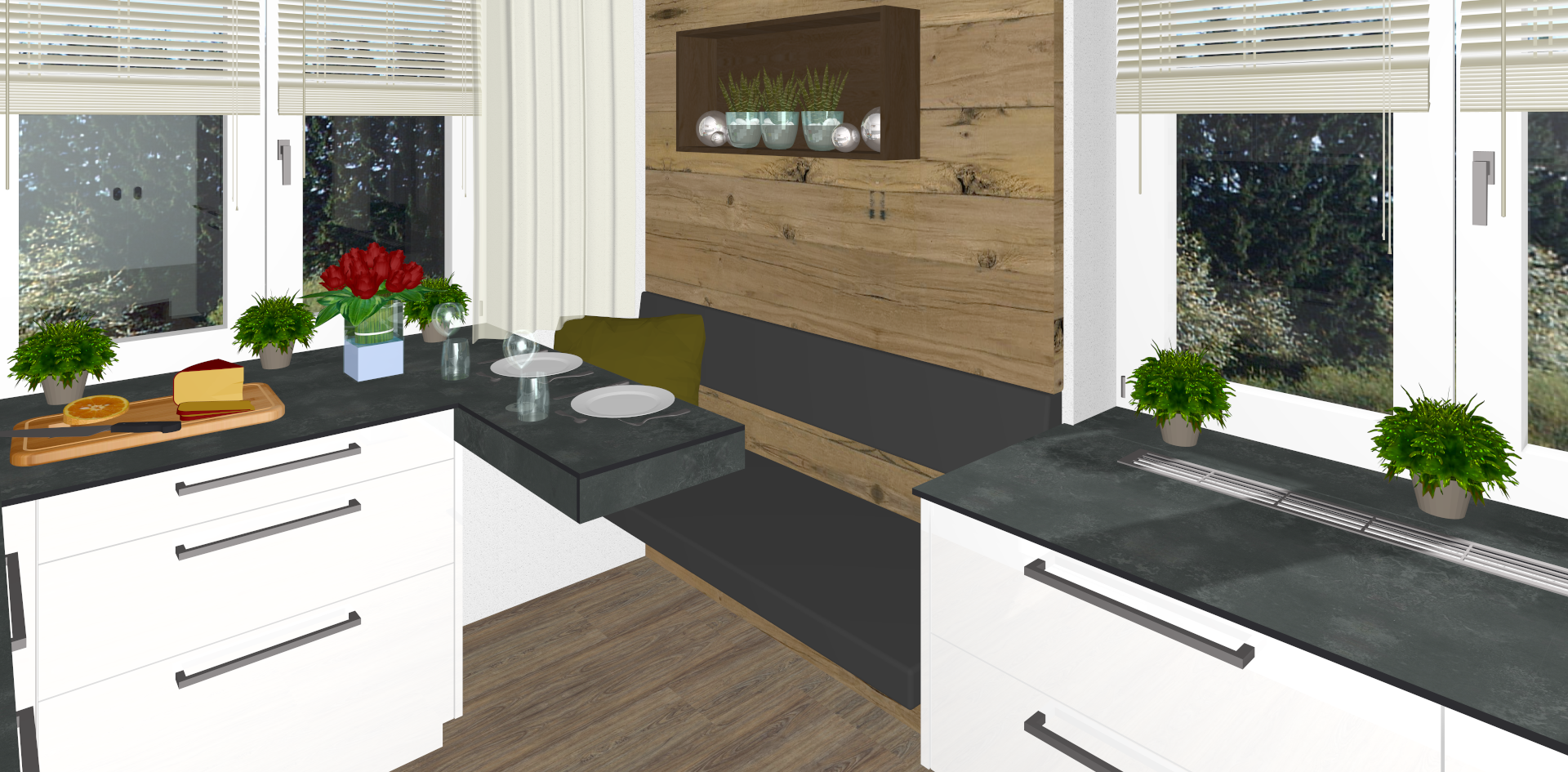 Elegante Küche in Hofkirchen