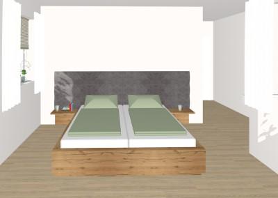 Schlafzimmer mit Ankleide-Bereich in Perg