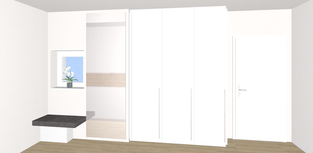 schlafzimmer mit ankleide offenes duschen design fr eine moderne einrichtung im bad. Black Bedroom Furniture Sets. Home Design Ideas