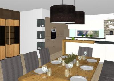 Küche mit Essbereich in St. Marien