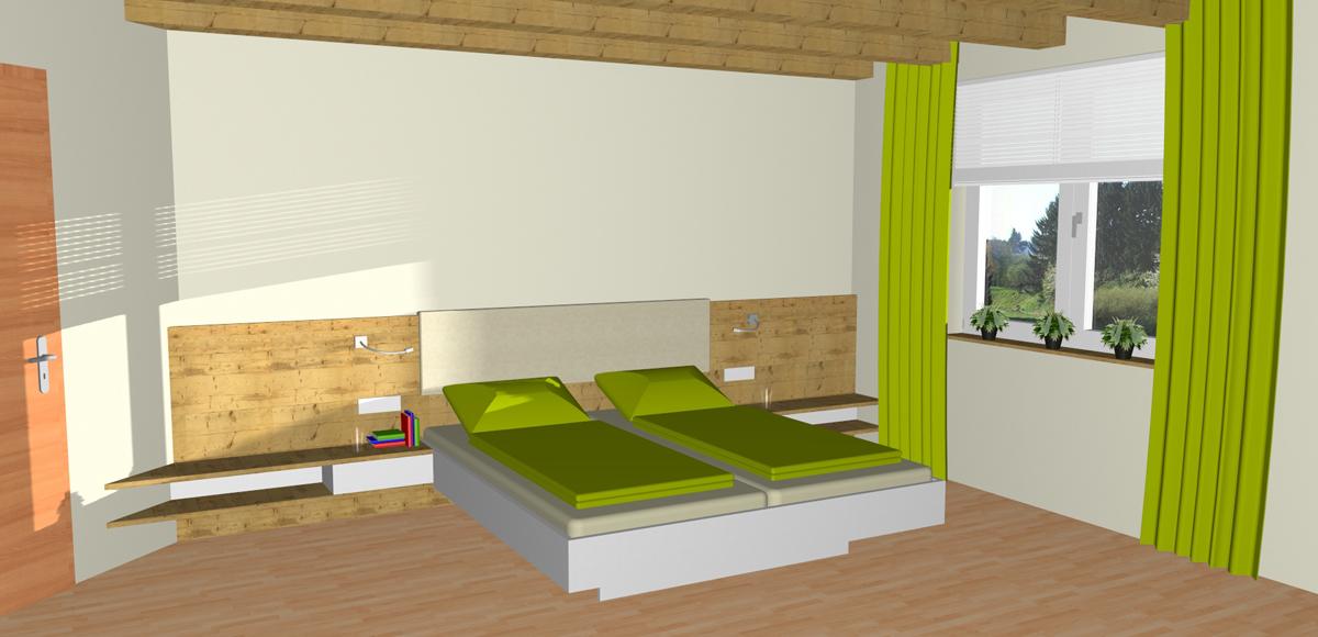 Geräumiges Schlafzimmer in Linz