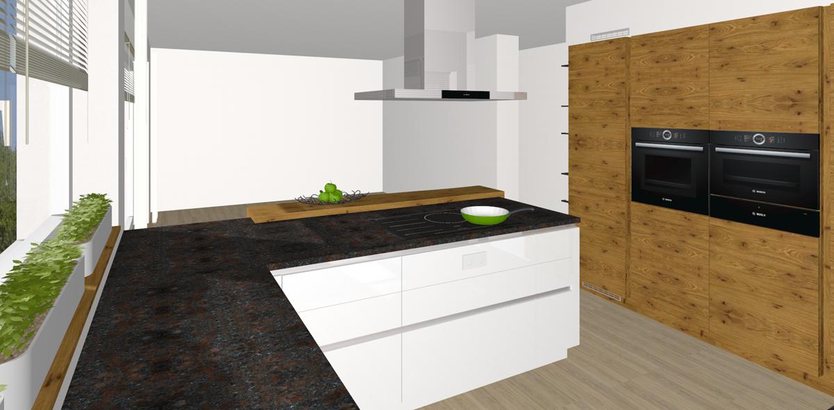grifflose hochglanz k che in graz tischlerei kastner. Black Bedroom Furniture Sets. Home Design Ideas