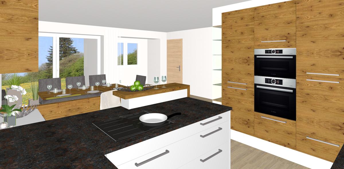k che mit essbereich in perg tischlerei kastner. Black Bedroom Furniture Sets. Home Design Ideas