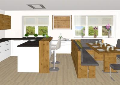 küche mit essbereich in perg | tischlerei kastner - Kche Mit Essbereich