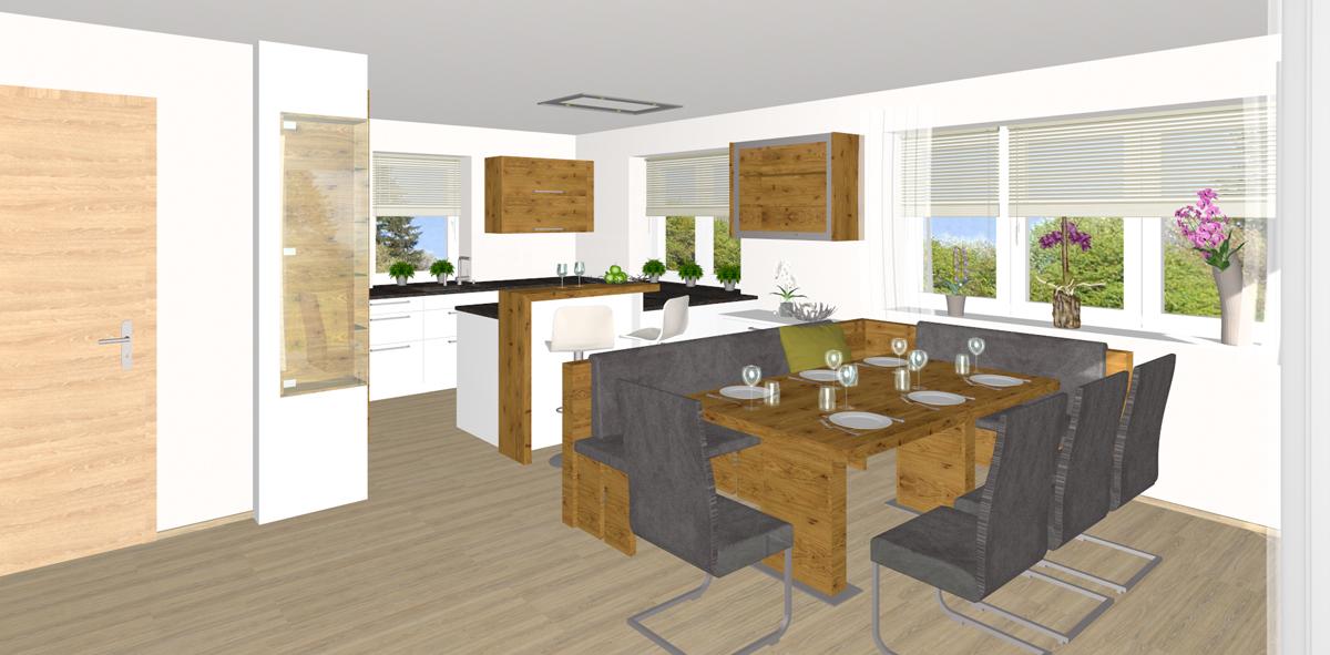 Küche mit Essbereich in Perg