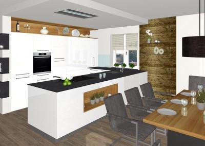 Moderne Küche mit Essbereich in Feldkirchen