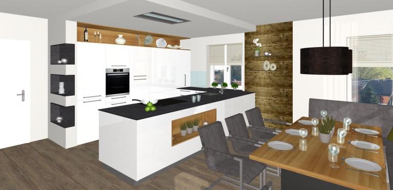 offene k che mit speis in perg tischlerei kastner. Black Bedroom Furniture Sets. Home Design Ideas