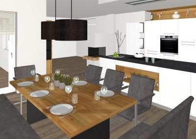 Moderne Küche mit Essbereich in Feldkirchen  Tischlerei ...