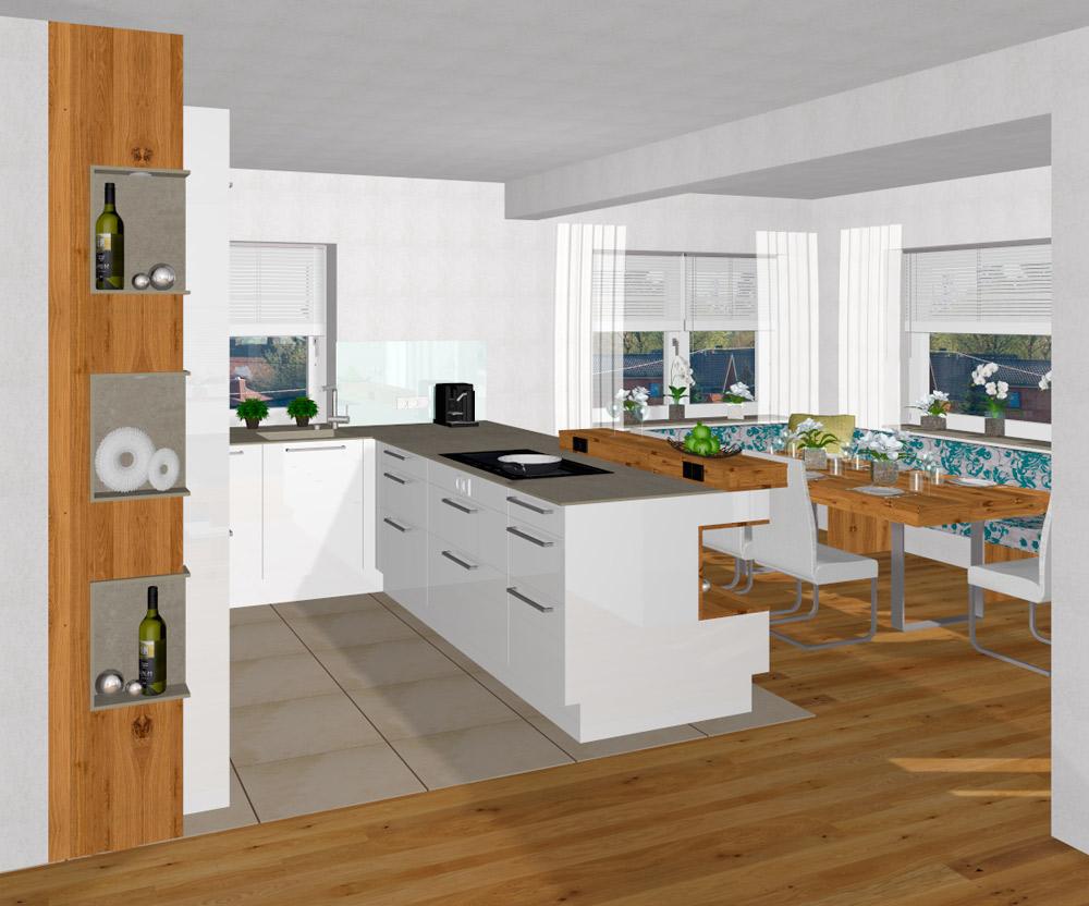 offene wohnk che mit versteckter speist r in kirchdorf an der krems tischlerei kastner. Black Bedroom Furniture Sets. Home Design Ideas