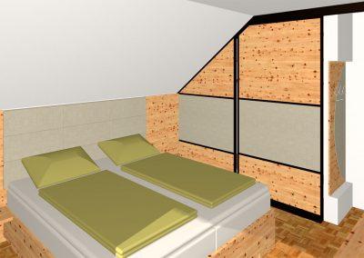 Schlafzimmer-Bad-Hall