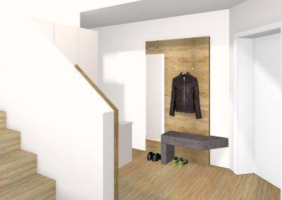 Moderner kompakter Vorraum mit Stauraum in Bad Schallerbach