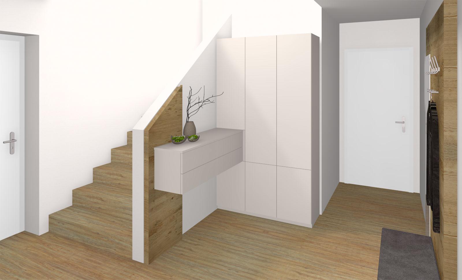 Moderner kompakter Vorraum mit Stauraum in Bad Schallerbach ...